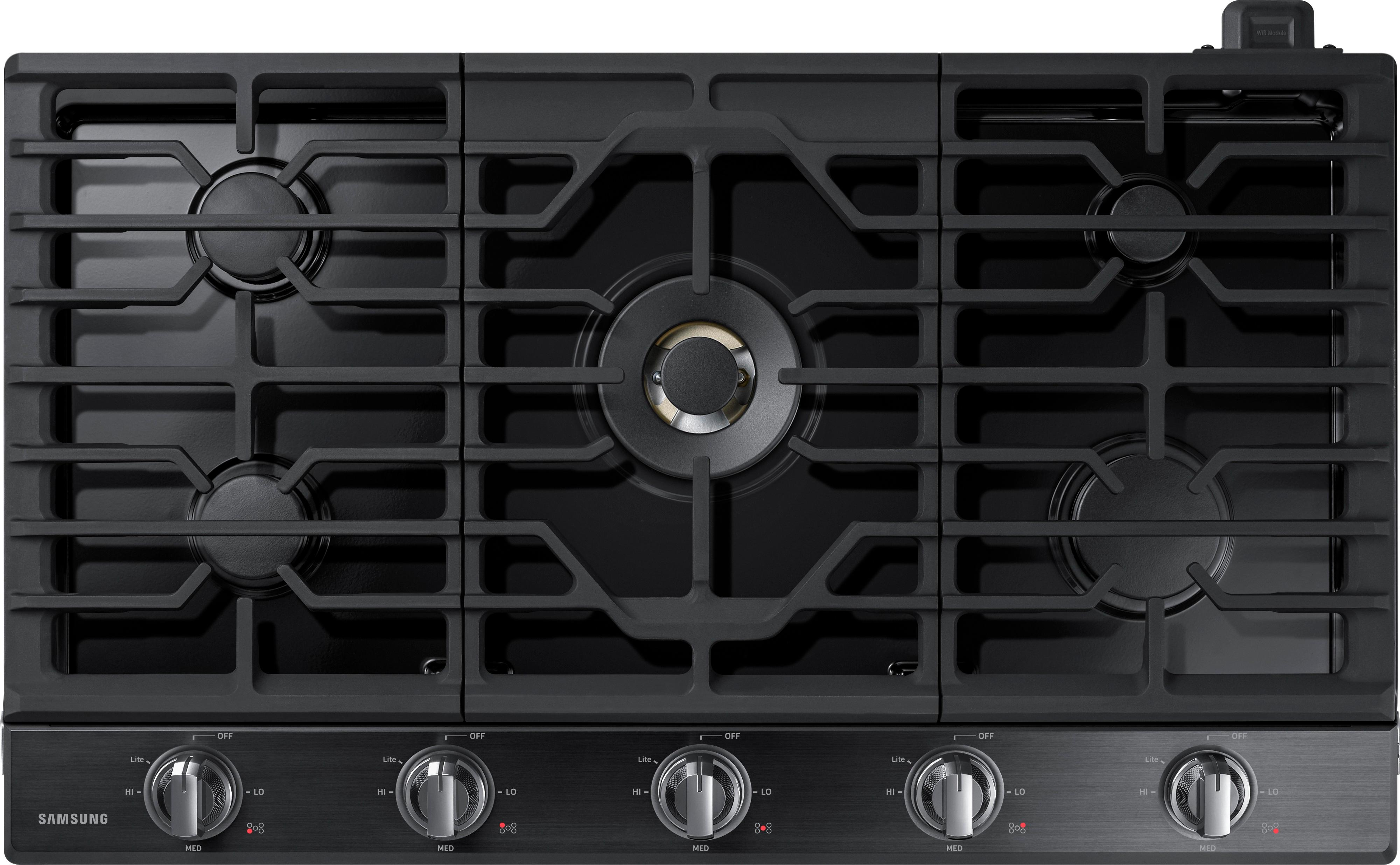 black gas cooktops